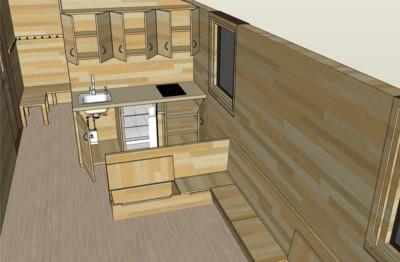 Elvira 326 Innanansicht Sitzbereich & Küche