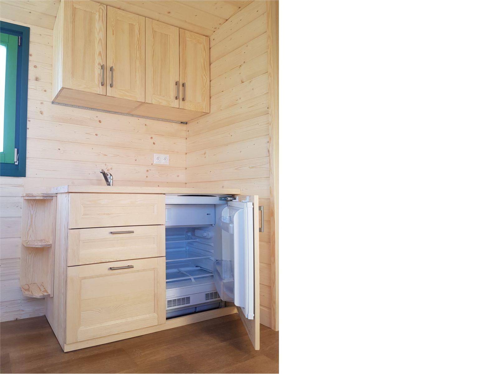 Küche 120 mit Kühlschrank