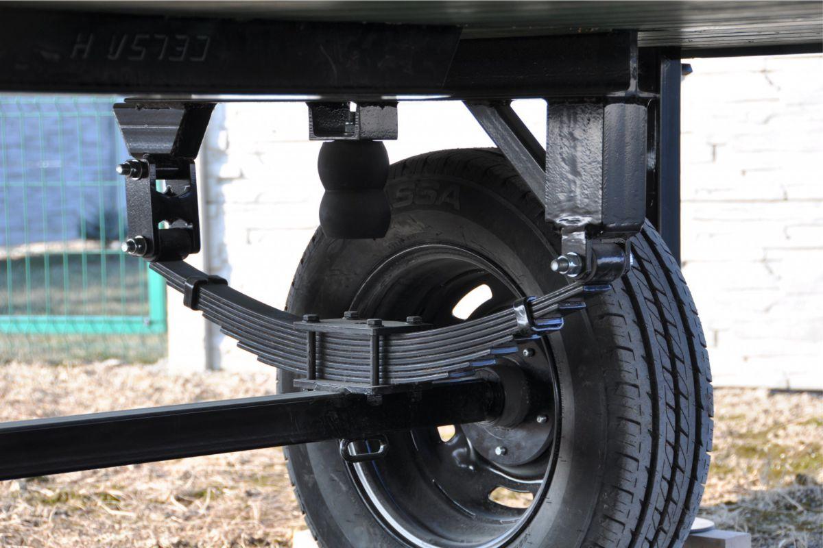 Blattfedern schützen den Wagen während des Transport gegen Erschütterungen