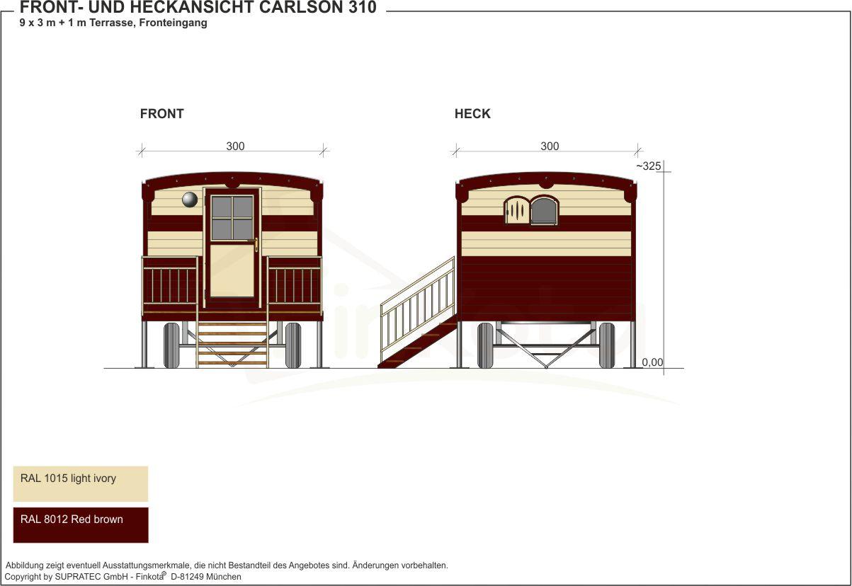 Carlson 310 Front- und Heckansicht