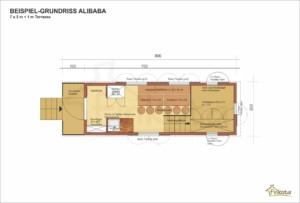 Alibaba 210 Beispielgrundriss