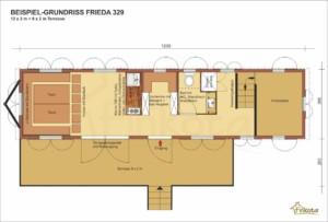 Beispielgrundriss Frieda 329