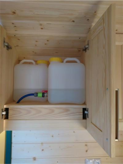 Wasserreservoir im Oberschrank