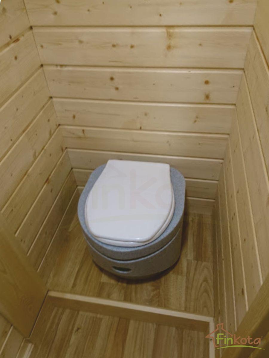 Komposttoilette mit Podest und Klappstufe